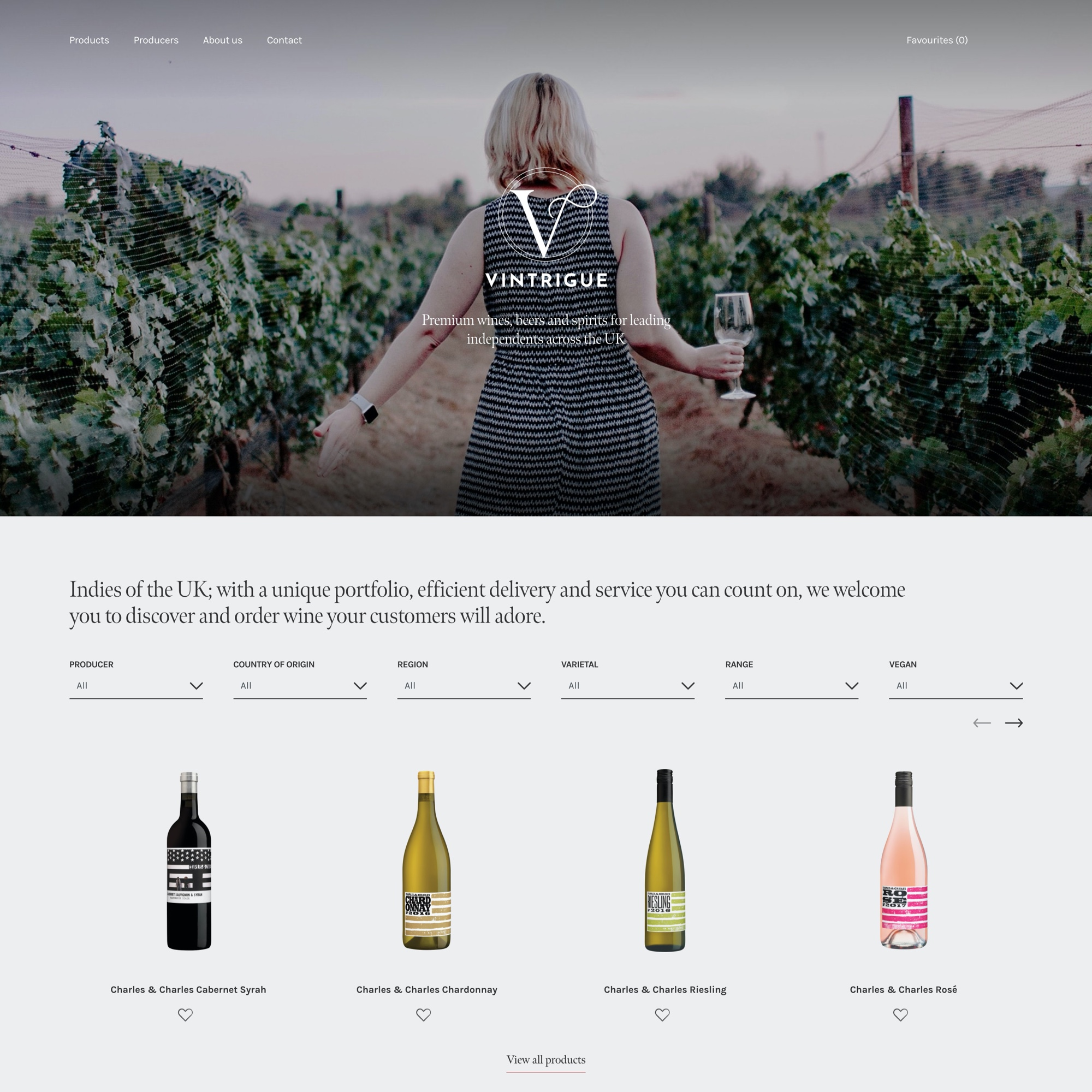 Image: Vintrigue Wines Screenshot